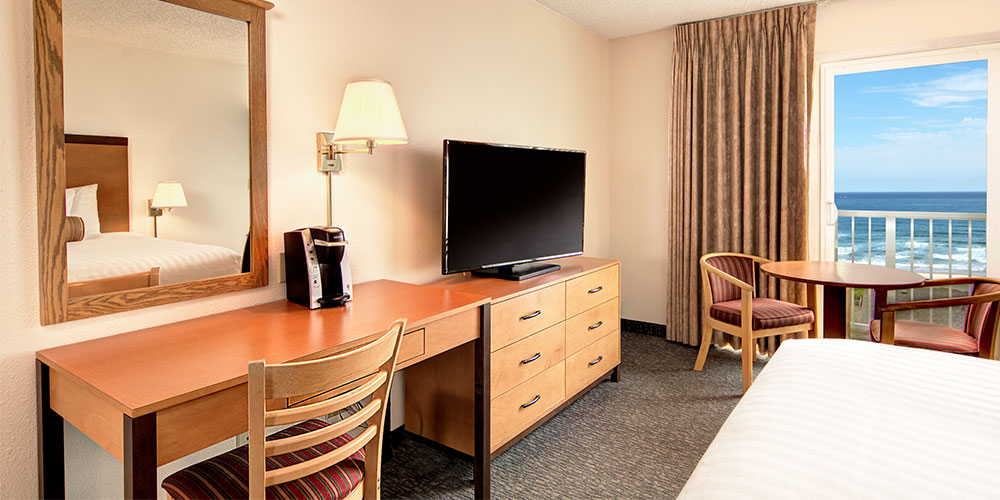 Each room has a wide-screen HDTV and cable with HBO.
